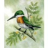 Kreuzstichvorlage Crossed Wing Collection - Green Kingfisher