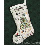 Brittercup Designs Stickvorlage Britty Kitty Christmas Stocking