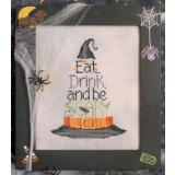 Eat Drink & Be Scary  - Stickvorlage Waxing Moon