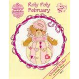 Designs by Gloria & Pat Stickvorlage Cherished Teddies Roly Polys February