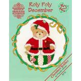 Kreuzstichvorlage Designs by Gloria & Pat - Roly Polys December (Cherished Teddies)