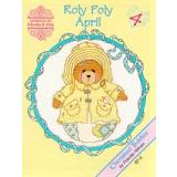 Designs by Gloria & Pat Stickvorlage Cherished Teddies Roly Polys April