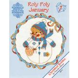 Designs by Gloria & Pat Stickvorlage Cherished Teddies Roly Polys January