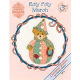 Designs by Gloria & Pat Stickvorlage Cherished Teddies Roly Polys March