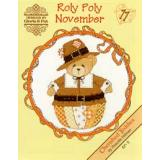Designs by Gloria & Pat Stickvorlage Cherished Teddies Roly Polys October