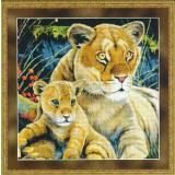 Kustom Krafts Stickvorlage Lioness And Cub