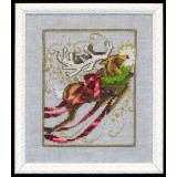 Nora Corbett Stickvorlage Christmas Eve Couriers Rudolph NC121