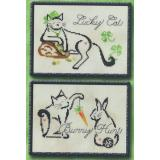 March/April Monthly Brittie Kitties - Stickvorlage Brittercup Designs