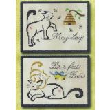 May/June Monthly Brittie Kitties - Stickvorlage Brittercup Designs