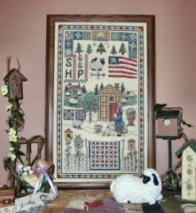Woolgatherers Cottage Farm - Stickvorlage Linda Myers