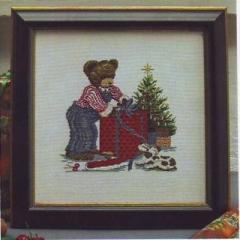 Stickpackung Oehlenschläger Kreuzstich 30208 - Weihnachtsteddy