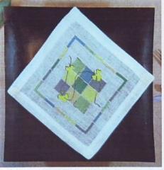 Oehlenschläger Stickpackung 91101 Deckchen Quadrate 18x18