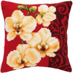 Kreuzstichkissen Vervaco PN-0008790 Orchideen 40x40