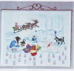 Oehlenschläger Stickpackung 12127 Adventskalender 45x55
