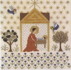 Maria an der Krippe - Stickpackung Fremme