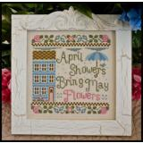 Stickvorlage Country Cottage Needleworks April Showers