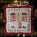 2011 Ornament 2-Bringing HomeThe Tree - Little House Needleworks