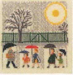 Aprilregen - Stickpackung Fremme