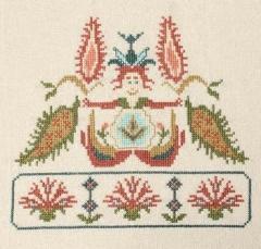 Stickvorlage Avlea Mediterranean Folk Minoan Mermaid