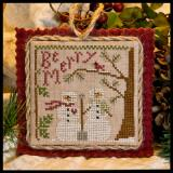 2011 Ornament 10-Snow In Love - Little House Needleworks