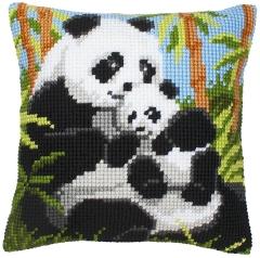 Vervaco Kreuzstichkissen PN-0008513 Pandas 40x40