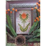 Kreuzstichvorlage By The Bay Needleart - Funky Flower Holly