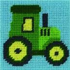 Traktor John - Stickpackung Anfänger Anchor vorgezeichnet