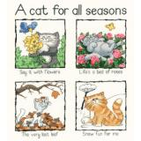 A Cat for all Seasons - Kreuzstichpackung Heritage