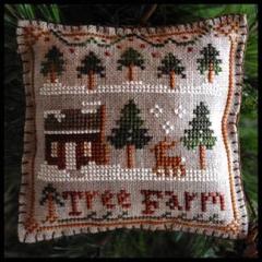 Little House Needleworks Stickvorlage Ornament 2012 Tree Farm