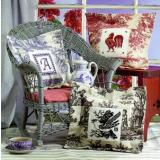 Birds Of A Feather Stickvorlage Toile Pillows