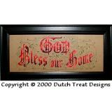 Dutch Treat Stickvorlage God Bless Our Home
