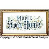 Dutch Treat Stickvorlage Home Sweet Home