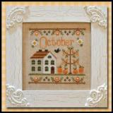 Country Cottage Needleworks Stickvorlage Cottage Of The Month October
