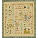 Elizabeths Designs Stickvorlage Antique Bird Sampler