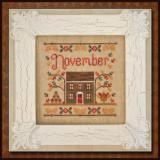Country Cottage Needleworks Stickvorlage Cottage Of The Month November