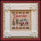 Country Cottage Needleworks Stickvorlage Cottage Of The Month December