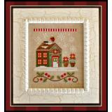 Country Cottage Needleworks Stickvorlage Santa's Village Poinsettia Place