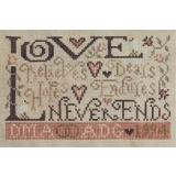 Stickvorlage Silver Creek Samplers Forever Love