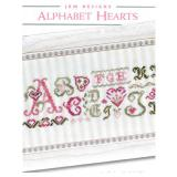 JBW Designs Stickvorlage Alphabet Hearts
