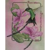 Red Billed Streamertail-2013 Hummingbird - Stickvorlage Crossed Wing Collection