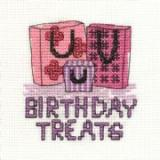 Birthday - Stickpackung DMC Geschenktaschen