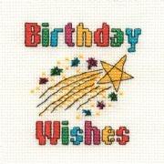 Birthday - Stickpackung DMC Geburtstagswünsche