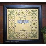 Lindsay Lane Designs Stickvorlage Dragonfly Garden Sampler Lindsay Lane Designs Stickvorlage