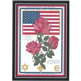 Kreuzstichvorlage Cody Country CrossStitch - God Bless The USA