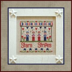 Country Cottage Needleworks Stickvorlage Stars & Stripes