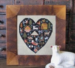 Black Heart - Stickvorlage Kathy Barrick