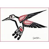 Salish Hummingbird - Stickvorlage The Stitching Studio