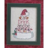Eat Drink & Be Merry - Stickvorlage Waxing Moon