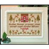 Country Cottage Needleworks Stickvorlage Reindeer Games
