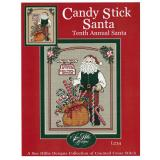 Sue Hillis Stickvorlage Candy Stick Santa